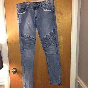 Pacsun Skinny Biker Denim Jeans
